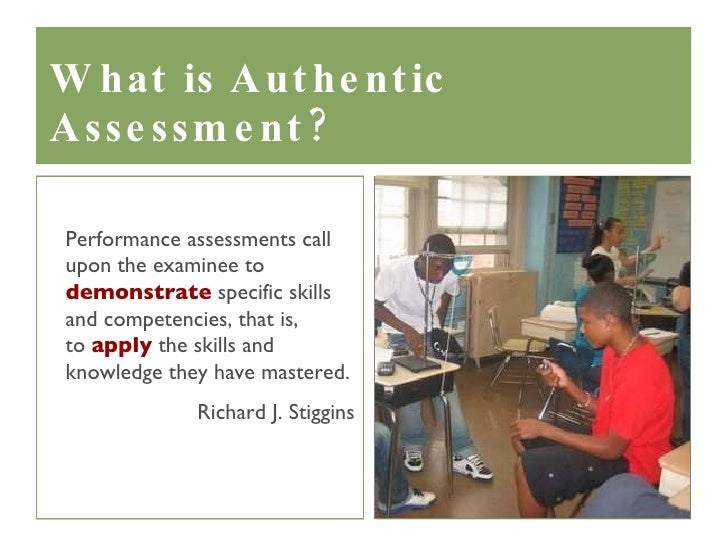 importance of authentic assessment in education