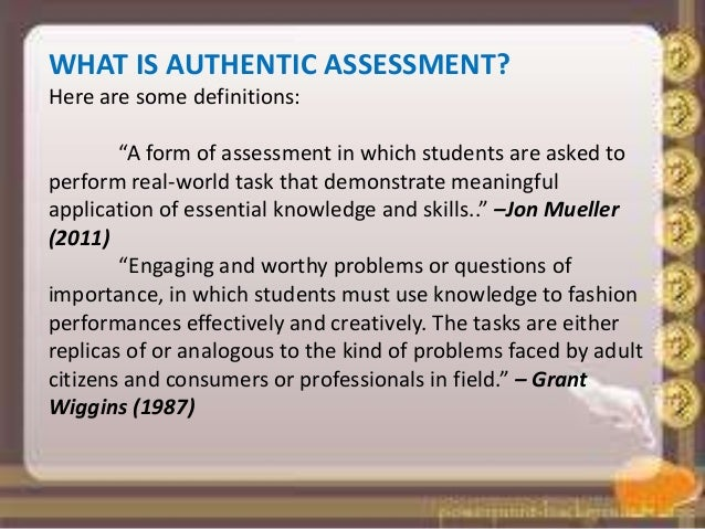 authentic assessment examples math