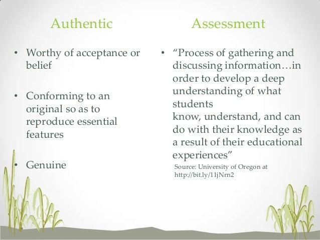 Authentic Assessment Slide 2