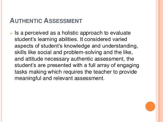Authentic assessment let's do it! Slide 2