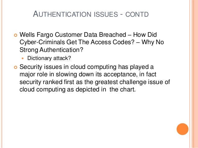 Authentication in cloud computing