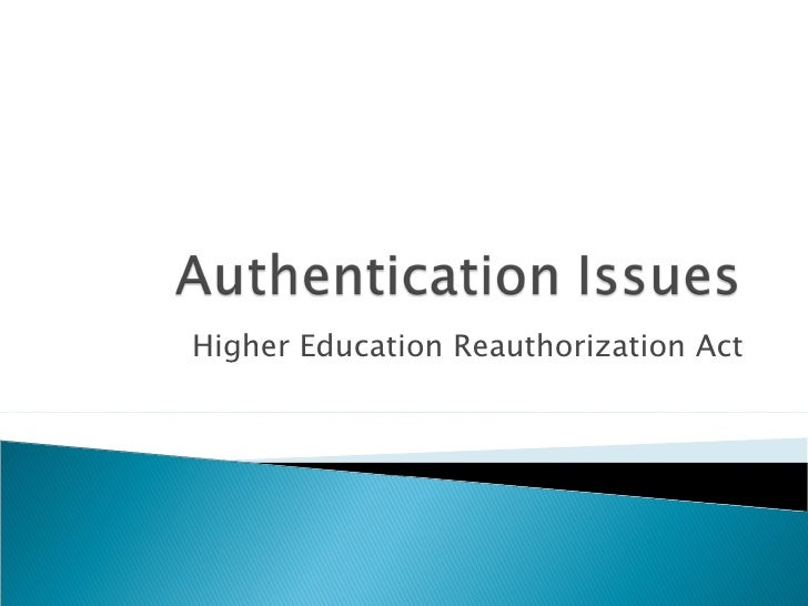 Higher Education Reauthorization Act