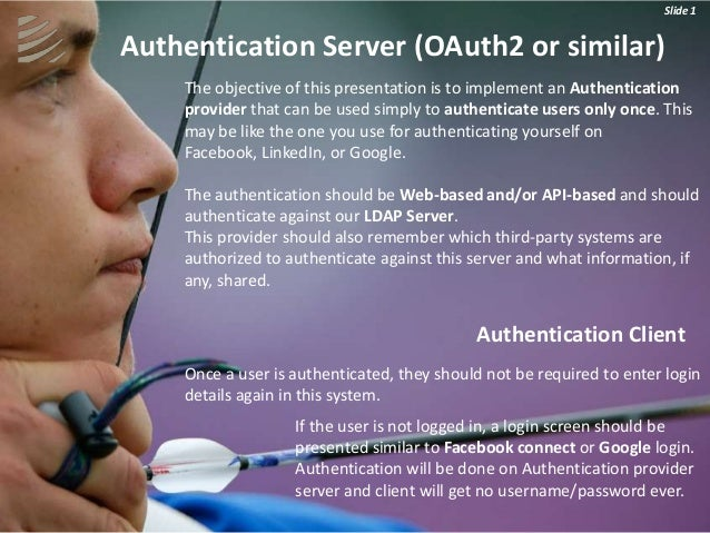 Slide 1                                                                      Slide 1Authentication Server (OAuth2 or simil...