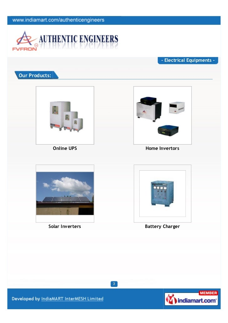 Authentic Engineers, Coimbatore, Electrical Equipments  Slide 3