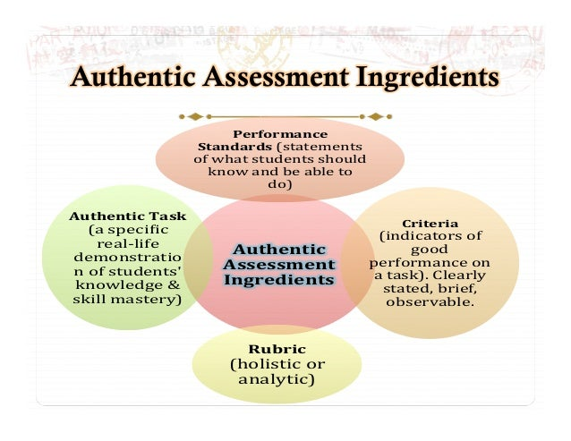 authentic assessment dissertation Authenticity is an important element of new modes of assessment the problem is  that what authentic assessment really is, is unspecified in this article, we first.