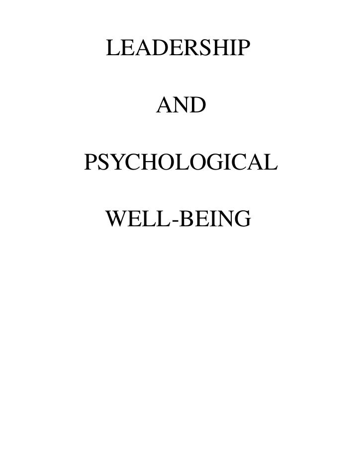 the psychological well being and psycho The psychological well-being of mothers raising a child with a developmental  disability varies with the nature  examined group differences in parental psycho .