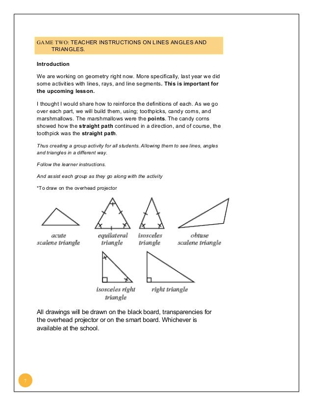 Lesson plan on Pythagoras and Introduction to Euclidean Geometry