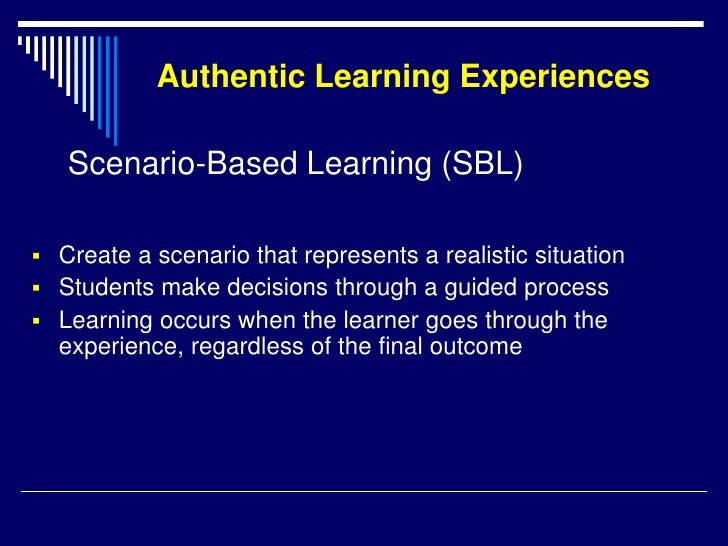 nine learning experiences Learning experience refers to any interaction, course, program, or other experience in which learning takes place, whether it occurs in traditional academic settings (schools, classrooms) or.