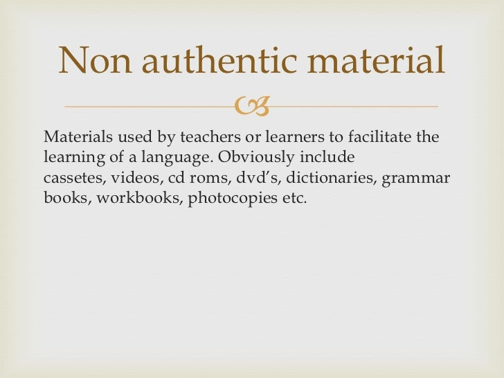 authentic materials definition