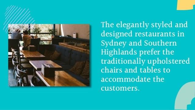 Benefits of Customised Upholstery for Restaurents Slide 2