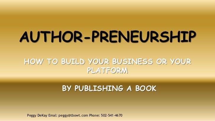 Author preneuriship-fd-feb2012 3 Slide 2