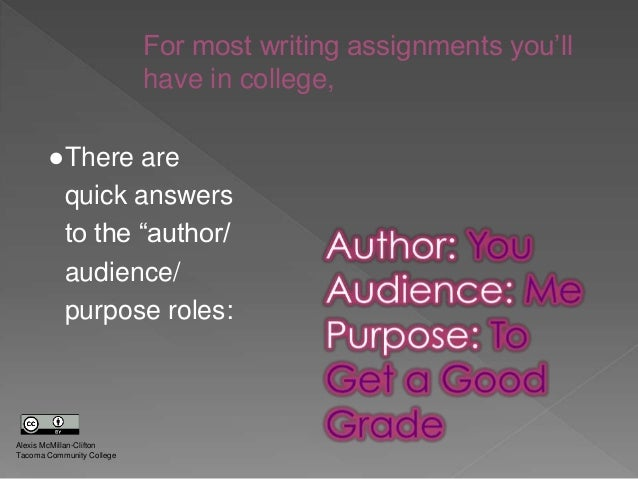 purpose of satisfying the audience essay Free rhetorical analayes tone audience purpose in trying to satisfy that in different parts of their essays to make the audience react.
