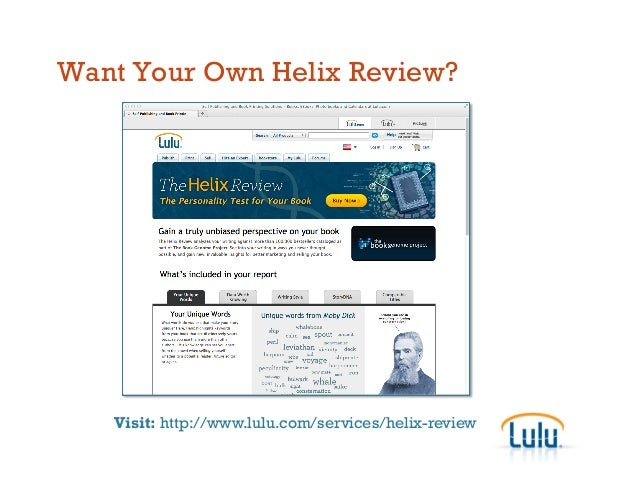 Want Your Own Helix Review? Visit: http://www.lulu.com/services/helix-review