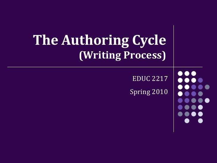 The Authoring Cycle (Writing Process) EDUC 2217 Spring 2010