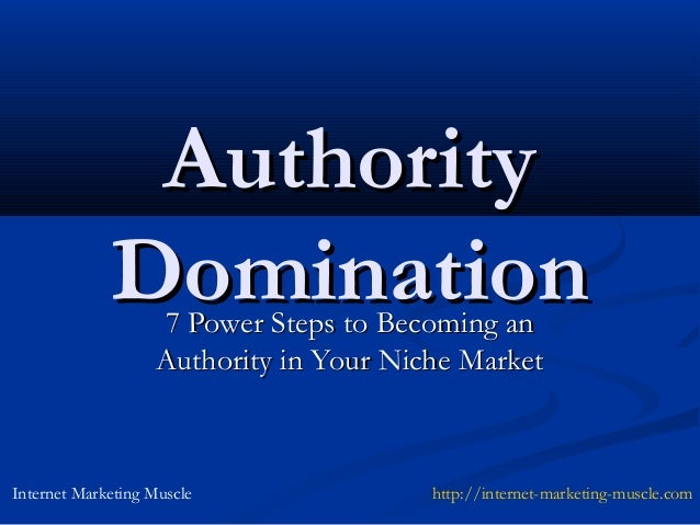 Authority             Domination                    7 Power Steps to Becoming an                    Authority in Your Nich...