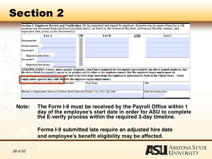 Authorization to Complete I-9 Forms