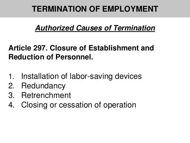 article regarding firing associated with employment