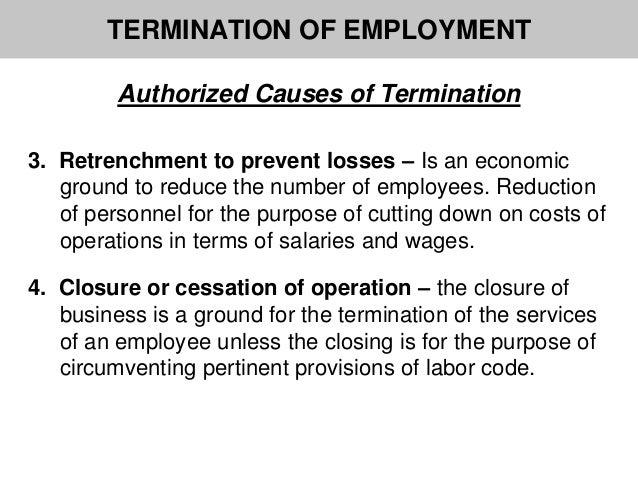 Authorized causes of termination termination of employment spiritdancerdesigns Images