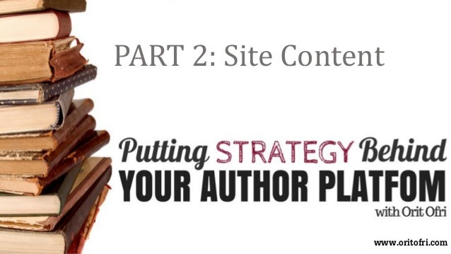 PART 2: Site Content www.oritofri.com