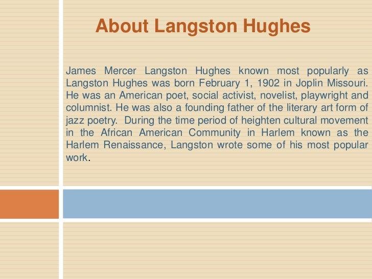 Author presentation- Langston Hughes Slide 2