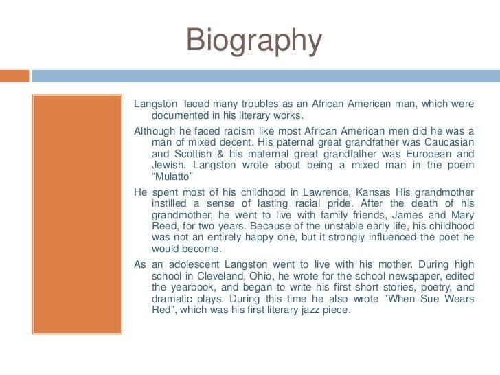 Author presentation- Langston Hughes Slide 3