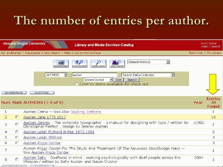 The number of entries per author.