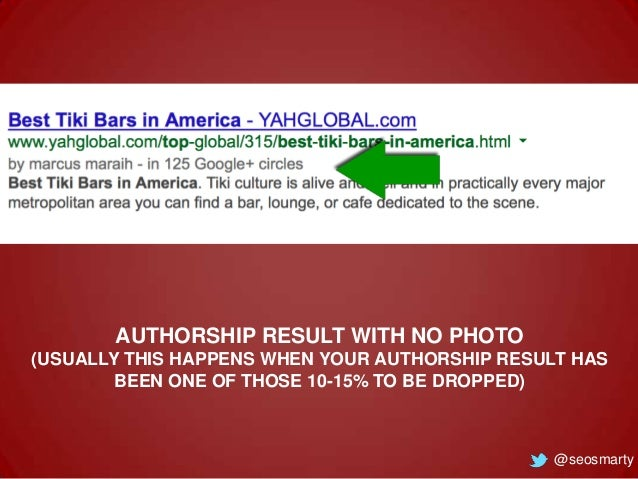 AUTHORSHIP RESULT WITH NO PHOTO (USUALLY THIS HAPPENS WHEN YOUR AUTHORSHIP RESULT HAS BEEN ONE OF THOSE 10-15% TO BE DROPP...