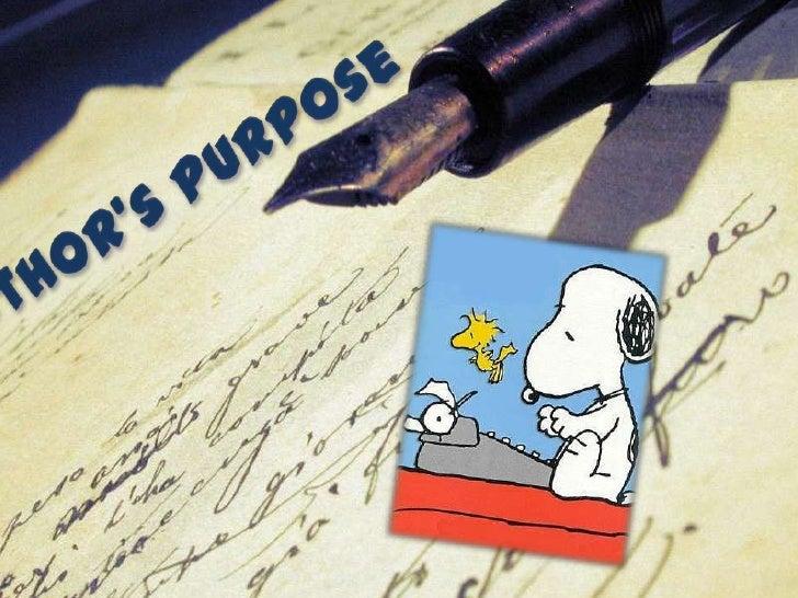 Author's Purpose<br />