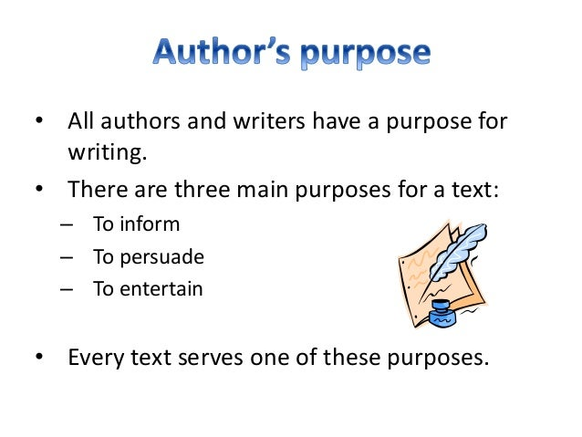 types of writing authors purpose powerpoint