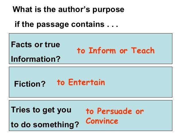 Authors purpose powerpoint presentation