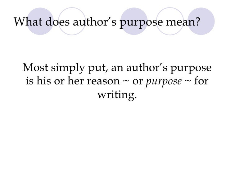 Author 39 s purpose presentation - What does contemporary mean ...