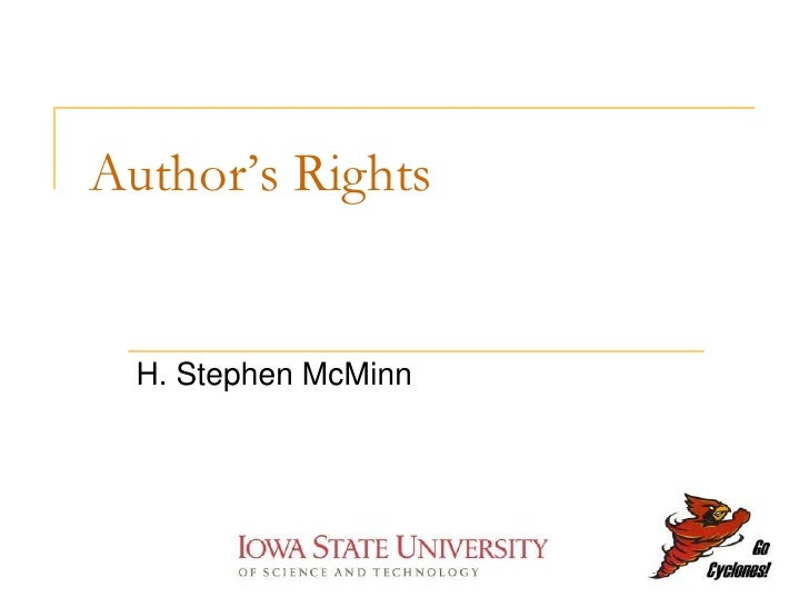 Author's Rights     H. Stephen McMinn