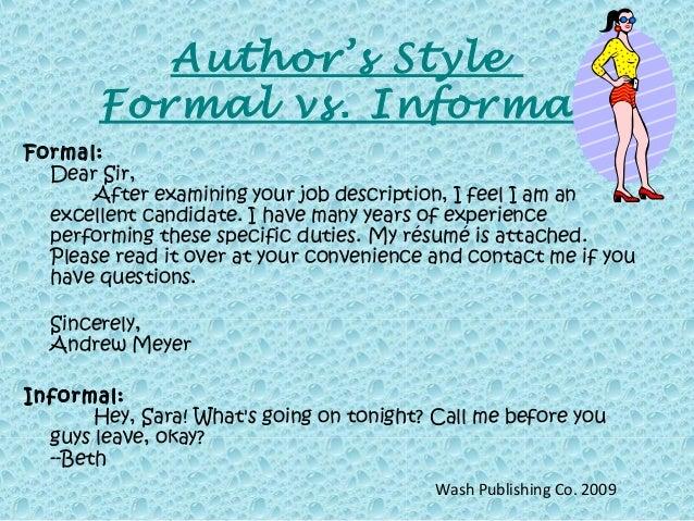 author u2019s style
