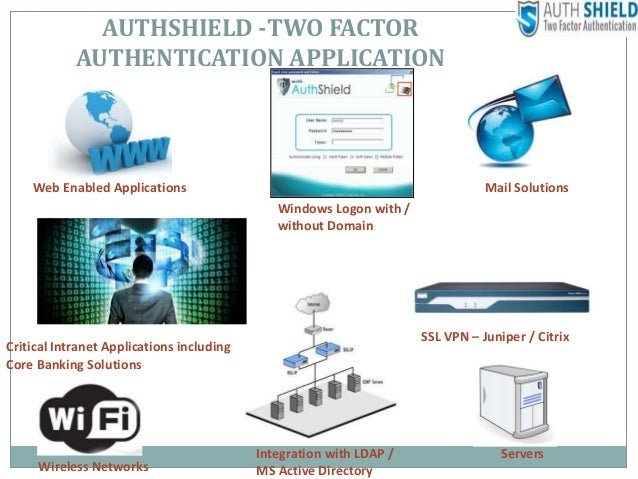 AUTHSHIELD TWO FACTOR AUTHENTICATION APPLICATION Web Enabled Applications Windows Logon With Without Domain Critical