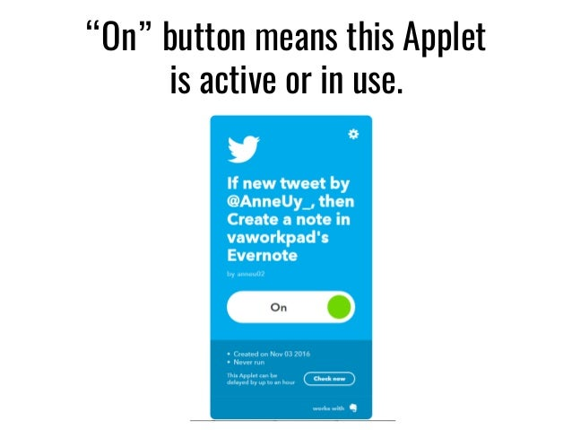 Tutorial ]How to Use IFTTT Applets