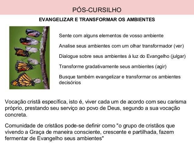 PÓS-CURSILHO ORDEM DA REUNIÃO