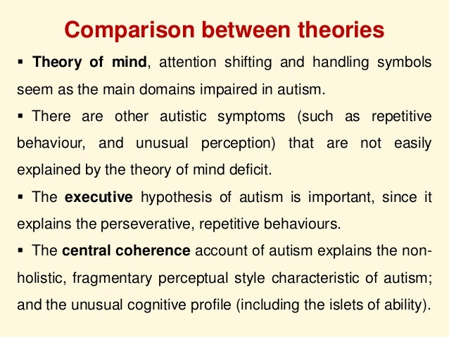 essays on theory of mind Theory of mind (tom) is a specific cognitive ability to understand that other people have different intentions, desires and beliefs to one&#.