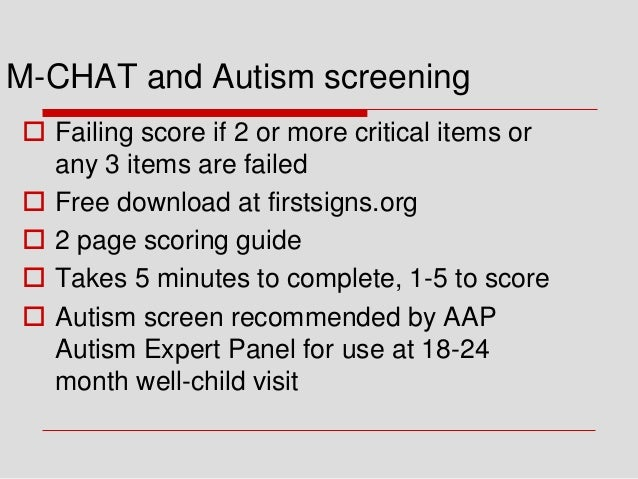 Autism Screening And Scoring Guides >> Autism