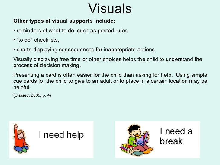 providing visual support essay