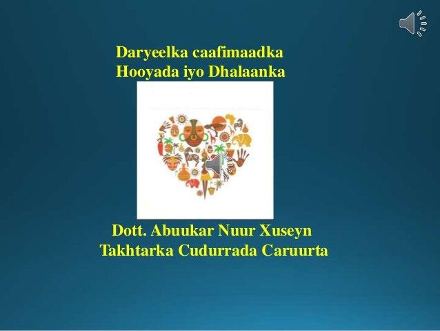 Daryeelka caafimaadka Hooyada iyo Dhalaanka Dott. Abuukar Nuur Xuseyn Takhtarka Cudurrada Caruurta