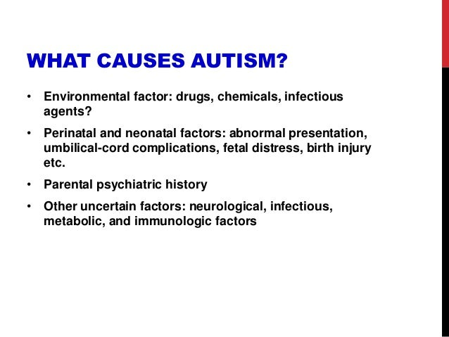 "a better understanding of what causes autism Summary autism is truly a ""spectrum"" of disorders a key theme in our understanding of asd centers on the tremendous heterogeneity, or variability, in the clinical presentation."