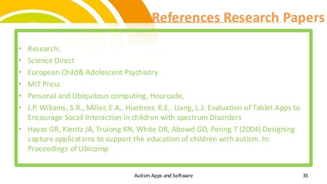 aspergers research paper Asperger's syndrome is one of a group of neurological disorders asperger's syndrome and how it affects the developing child - research paper example.