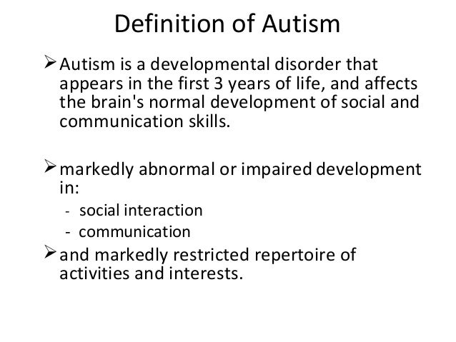 autism meaning in tamil