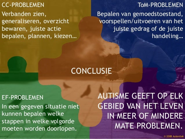 © 2008 Autentiek EF-PROBLEMEN In een gegeven situatie niet kunnen bepalen welke stappen in welke volgorde moeten worden do...