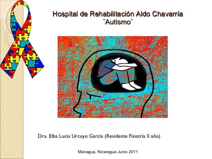 Hospital de Rehabilitación Aldo Chavarría ¨Autismo¨ Dra. Elba Lucia Urcuyo García (Residente Fisiatría II año) Managua, Ni...