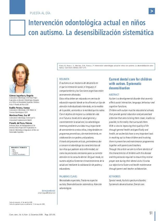 PUESTA AL DÍA > 51 Indexada en / Indexed in: – IME. – IBECS. – Latindex. – google académico. Intervención odontológica...