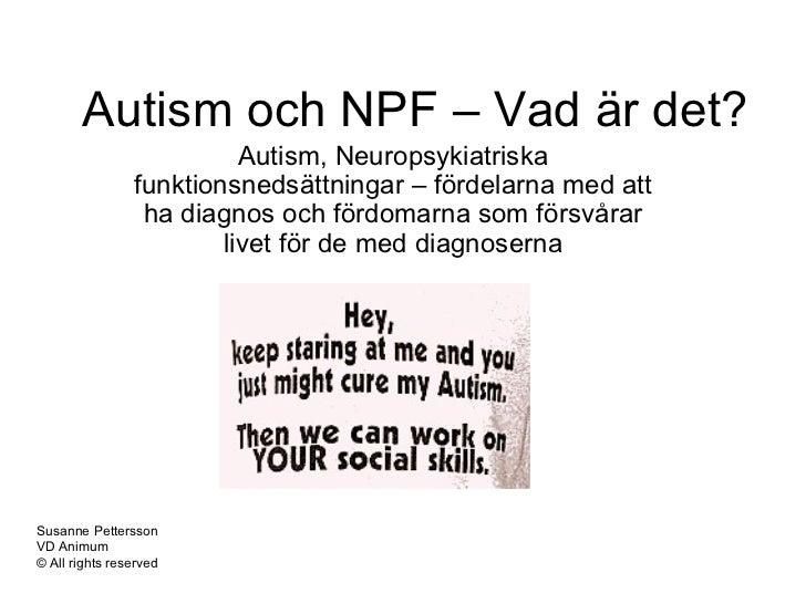 vad är autism