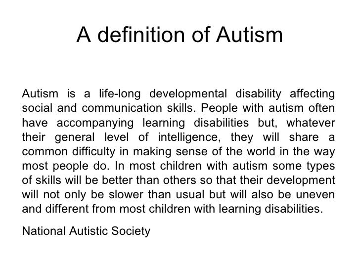 Autism presentation for The power of meaning crafting a life that matters