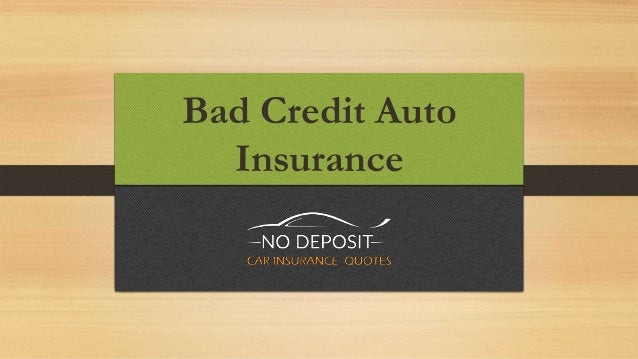 Auto Insurance for People With Bad Credit  Fast, Easy and Affordable