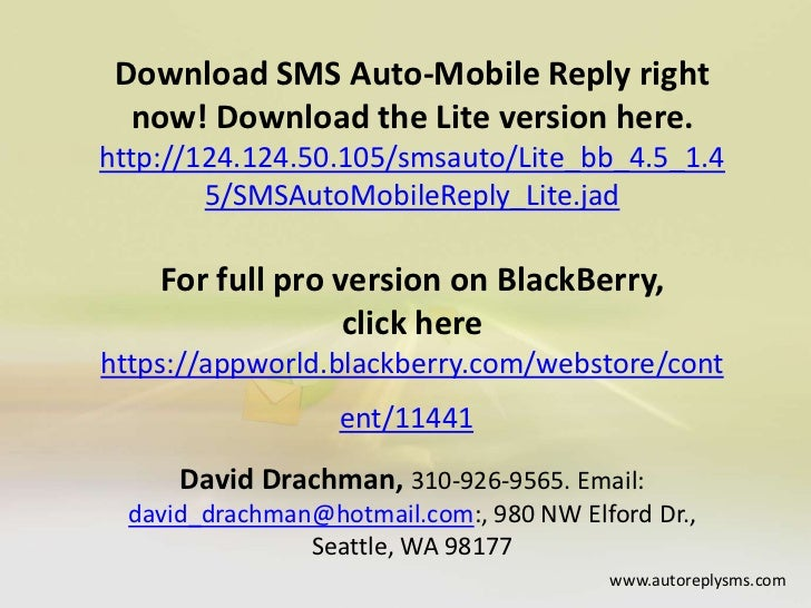 how to set auto reply text messages